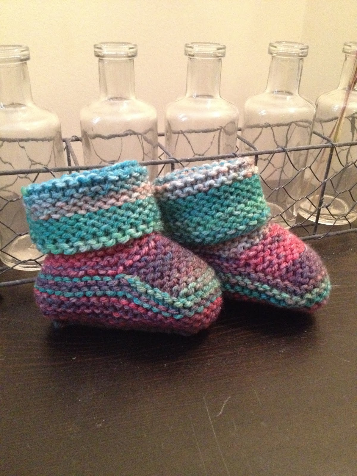 2364896b0 Red Heart s Garter Stitch Baby Booties