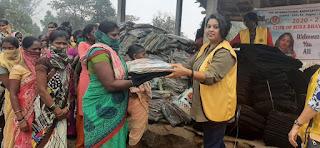 लायंस क्लब ऑफ मीरा भायंदर गैलेक्सी नें गरीबों को बाँटे कंबल | #NayaSaberaNetwork