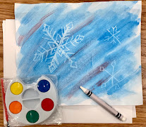 Snowflake resist art STEAM activity