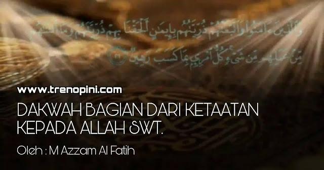 Dakwah merupakan kewajiban dari Allah SWT kepada umat Islam. Sebab Allah SWT menghendaki kehidupan yang baik dengan membawa kemanfaatan untuk seluruh umat manusia. Selain itu dakwah merupakan saling berpesan ingat dan mengingatkan, karena peringatan tersebut bermanfaat bagi orang beriman.