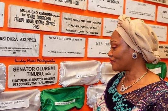 Remi Tinubu celebrates being the first female to be elected to serve in three consecutive Parliaments
