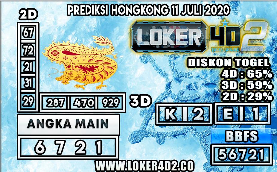 PREDIKSI TOGEL HONGKONG LOKER4D 11 JULI 2020
