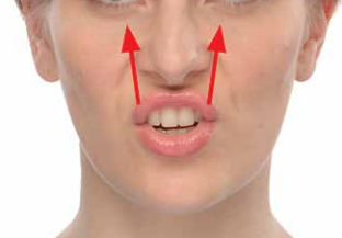 Basic exercise to strengthen the middle of the face