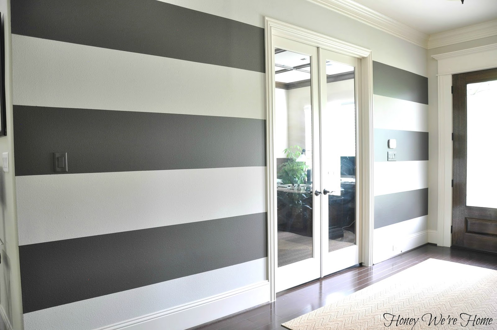 How to Paint Perfect Wide Stripes | Honey We're Home