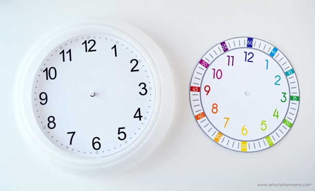 Free Printable Clock Face for Kids