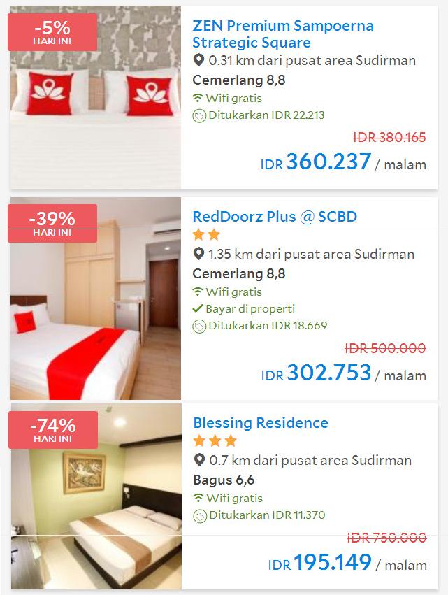 Hotel di sudirman dari murah ke mahal