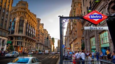 La Gran Vía y el centro de Madrid