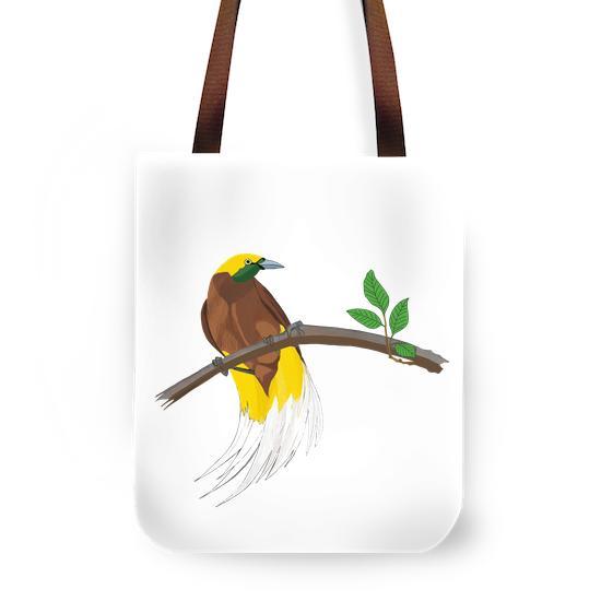 Gambar digital burung Cendrawasih Kuning Kecil