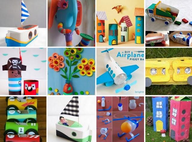 100+ Κατασκευές για παιδιά από Ανακυκλώσιμα Υλικά