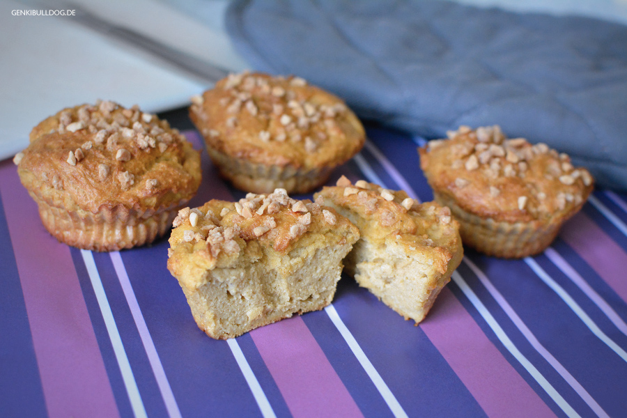Rezept Apfel-Hirse Muffins für Hunde selbst backen
