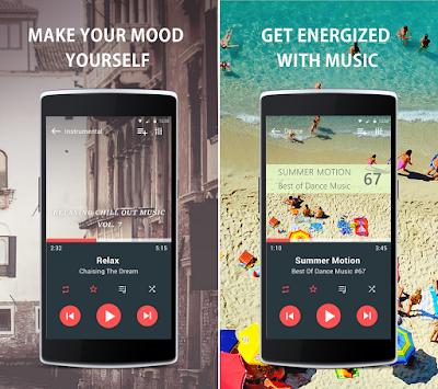 Tampilan Aplikasi Just Music Player Pro