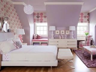 cuarto niña rosa lila