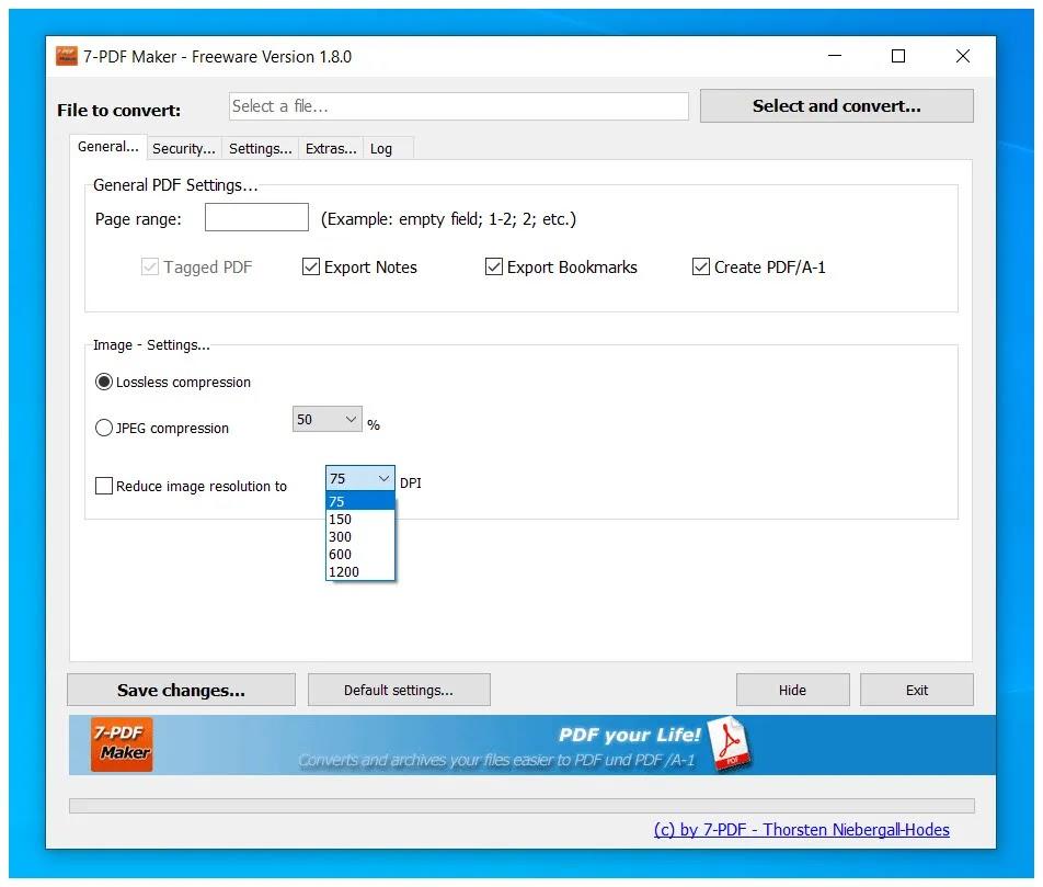 7-PDF Maker :  Δωρεάν λογισμικό δημιουργίας PDF