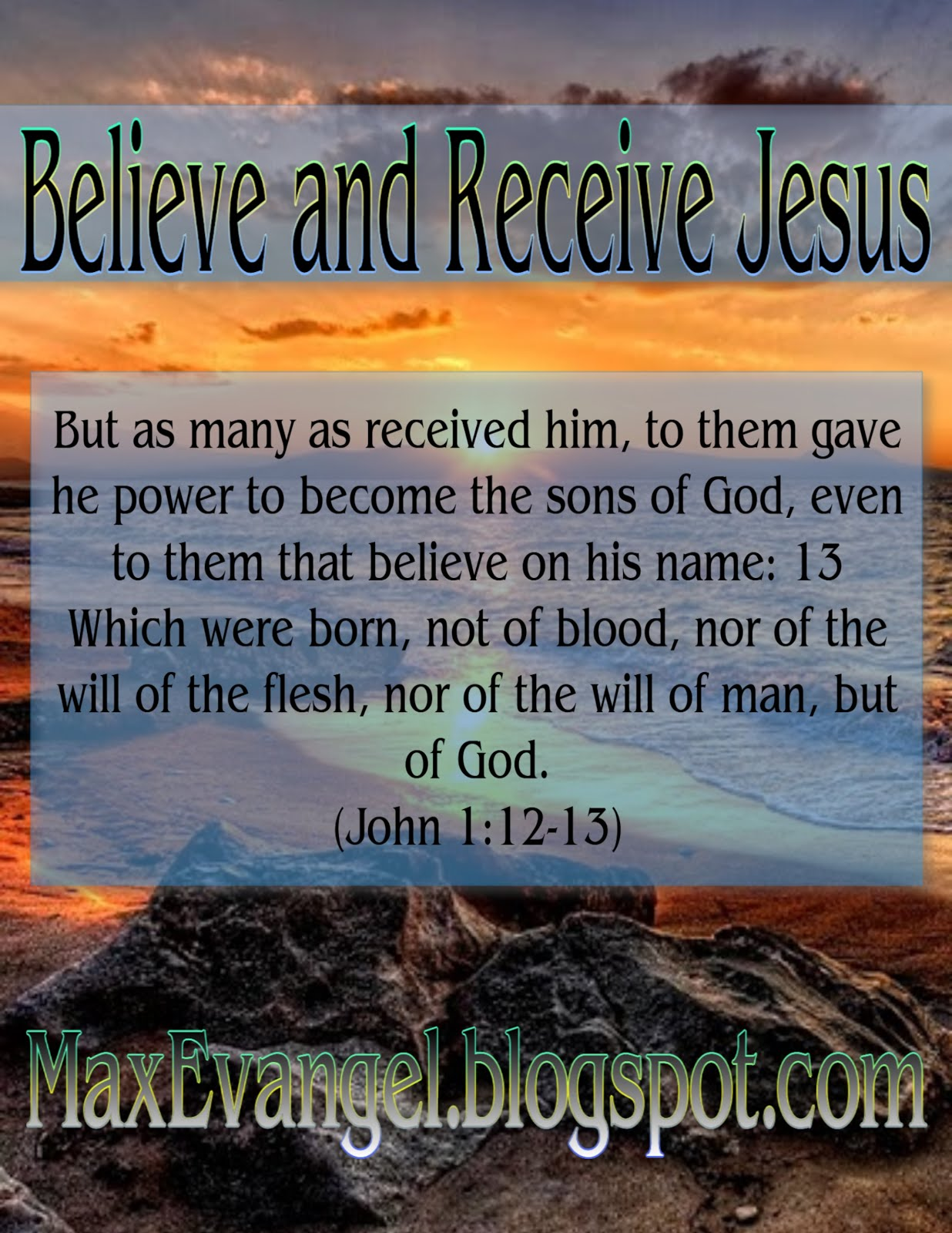 Believe and Receive the Lord Jesus
