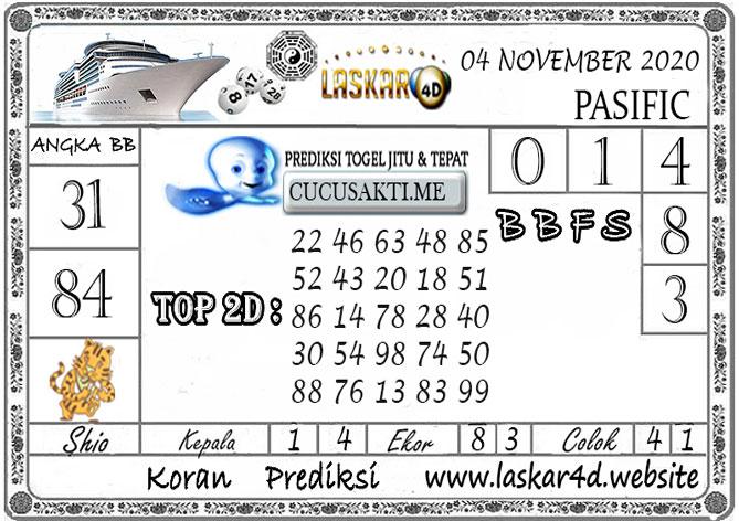 Prediksi Togel PASIFIC LASKAR4D 04 NOVEMBER 2020