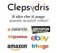 Logo Clepsydris Cashback : richiedi il tuo credito per i tuoi acquisti online o accumulando punti