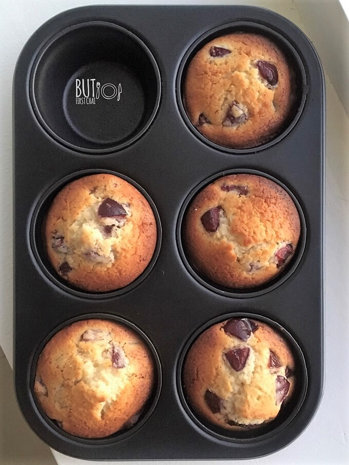 Eggless Cherry Muffins using Condensed Milk and Almond Flour