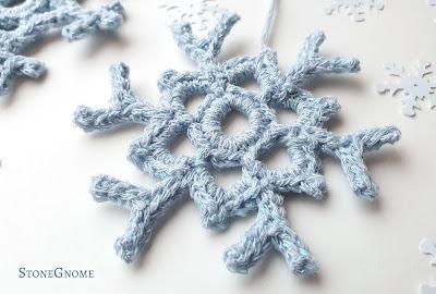 Crocheted Snowflake closeup