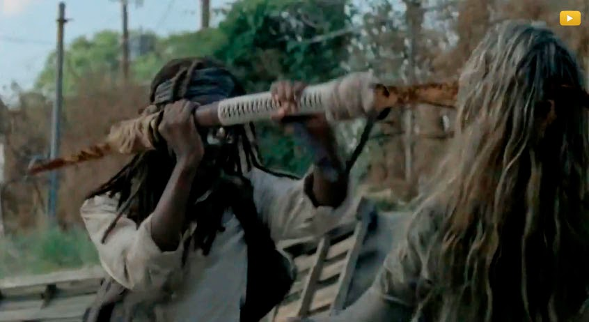 Michonne en la 5ª temporada de The Walking Dead