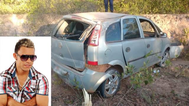 O Cantor Pedro Silva da cidade de Itaetê sofre acidante de carro na BA-145
