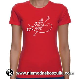 koszulka All you need is love