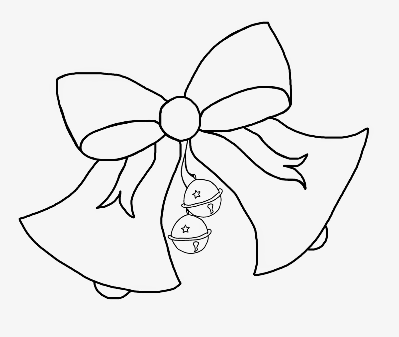 christmas bow coloring pages - photo #6