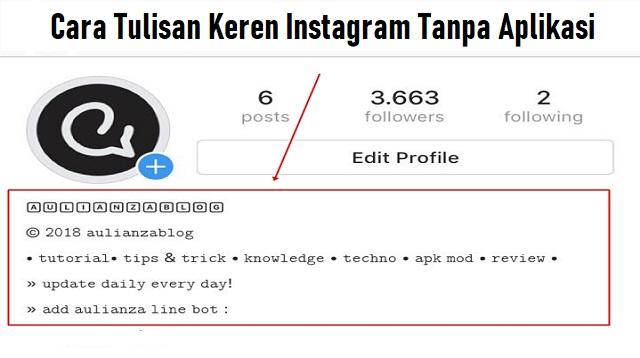 Cara Tulisan Keren Instagram Tanpa Aplikasi