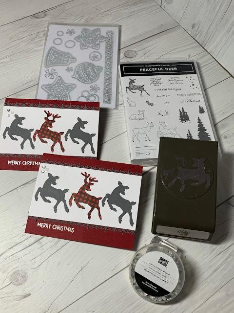 Craft tools used to make Deer-themed Handmade Christmas Cards
