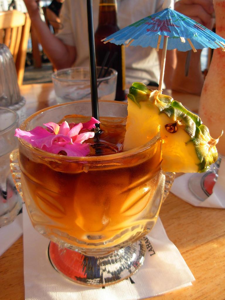 mai tai cocktail with umbrella - photo #1