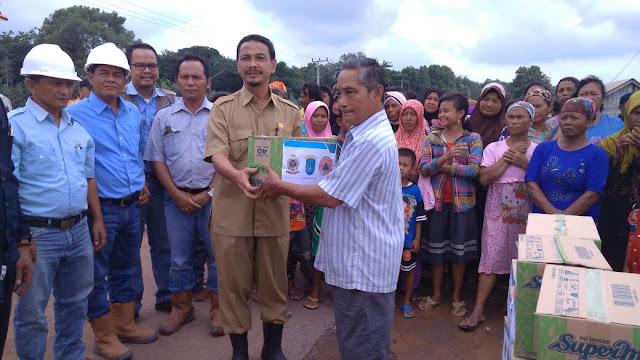 Responsif Banjir, BPBD, Dinsos OKI dan Sampoerna Agro Sambangi 3 Desa