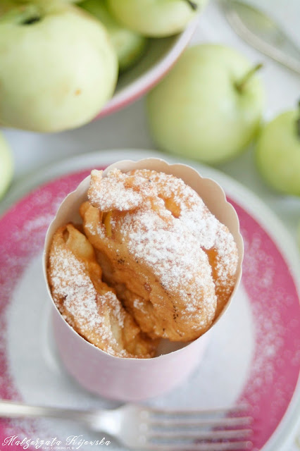jabłka smażone, papierówki, owoce w cieście, daylicooking, Małgorzata Kijowska