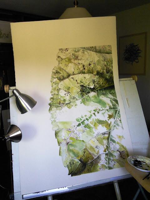 Botanical Art Leaf Painting