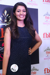 Model Shreya Kamavarapu in Short Black Dress at FBB Miss India 2017 finalists 066.JPG