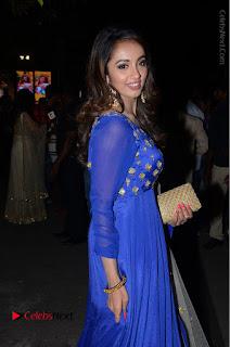 Telugu Actress Tejaswi Madivada Pos in Blue Long Dress at Nanna Nenu Na Boyfriends Audio Launch  0073.JPG