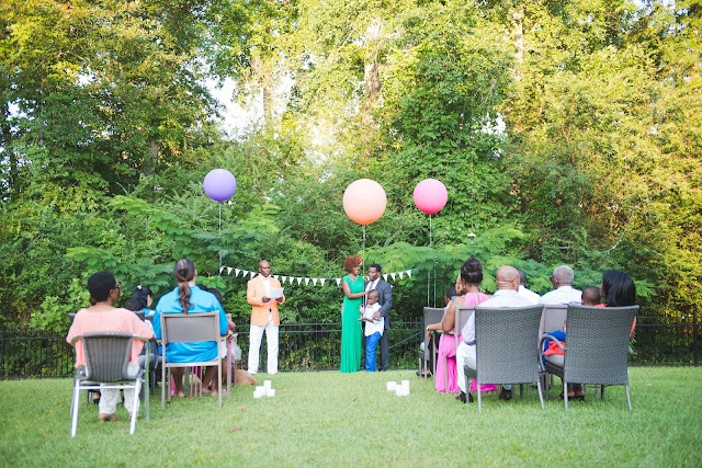 tropical backyard vow renewal