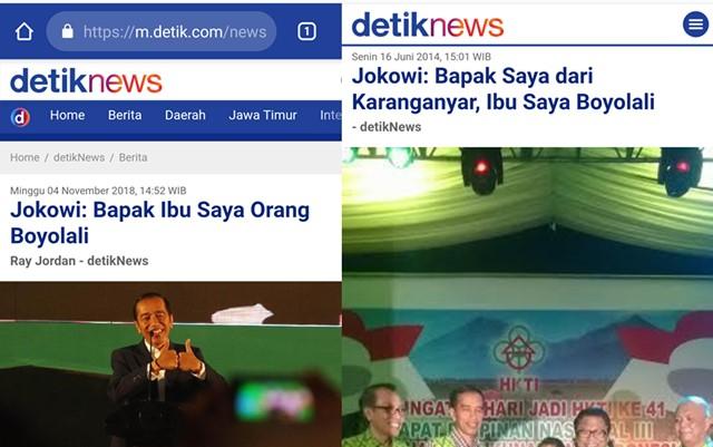 Nah lho, 2014 Jokowi Ngaku Bapak Karanganyar Ibu Boyolali, Sekarang Ngaku Bapak Ibu Boyolali
