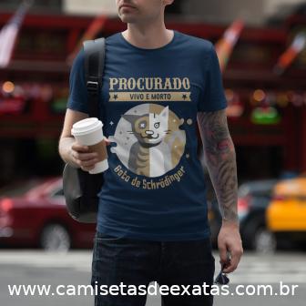 Camisetas de Exatas - Procurado - Vivo e morto