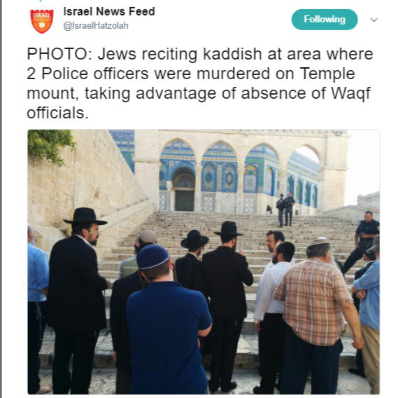 Jew Detector: As Waqf Stays Away, Jews Say Kaddish On Temple Mount For