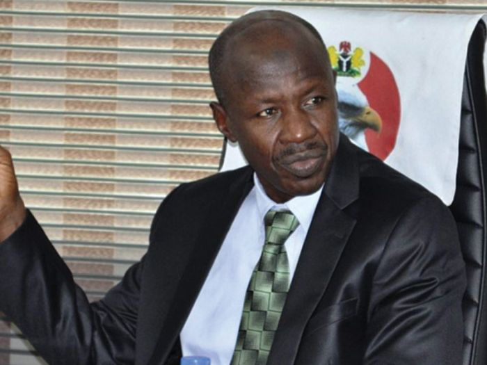 EFCC Boss, Magu Thrown Into A Cell, Detained By Police In Abuja – Sahara Reporters Reveal