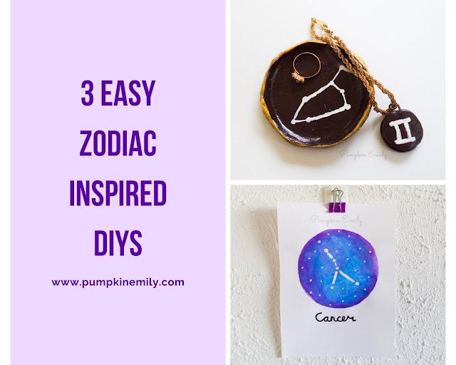 3 Easy Zodiac Inspired DIYs