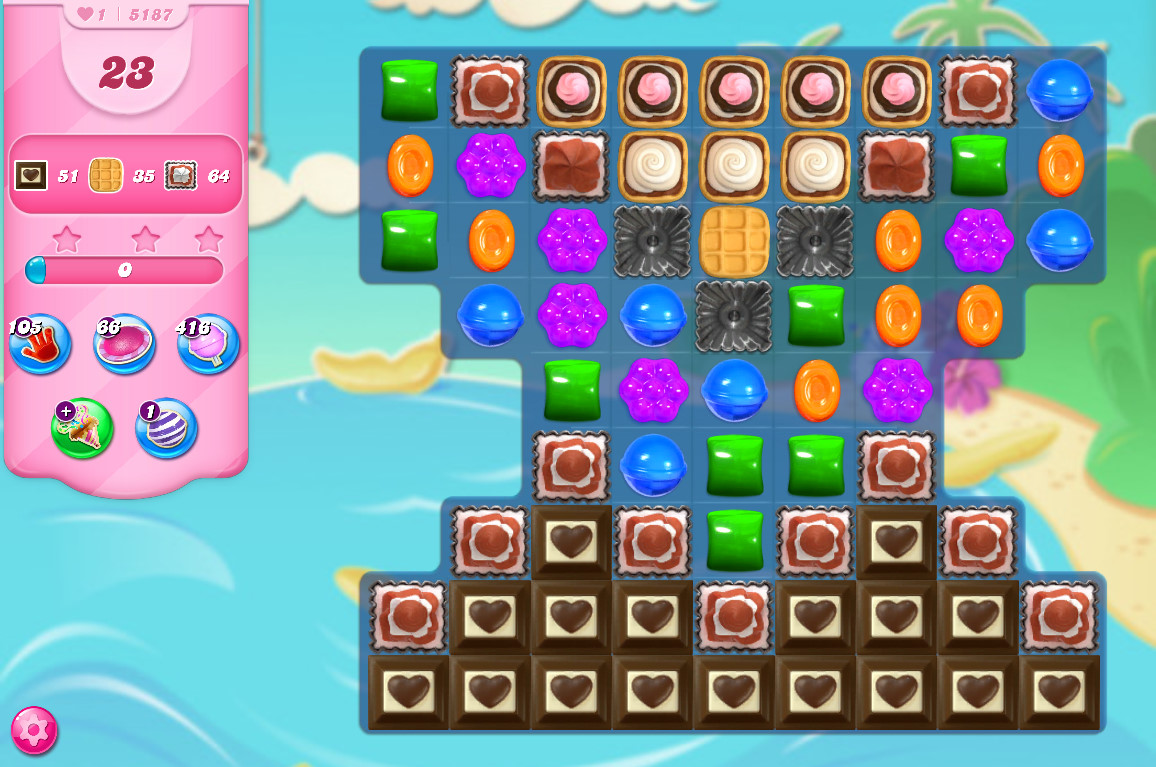Candy Crush Saga level 5187