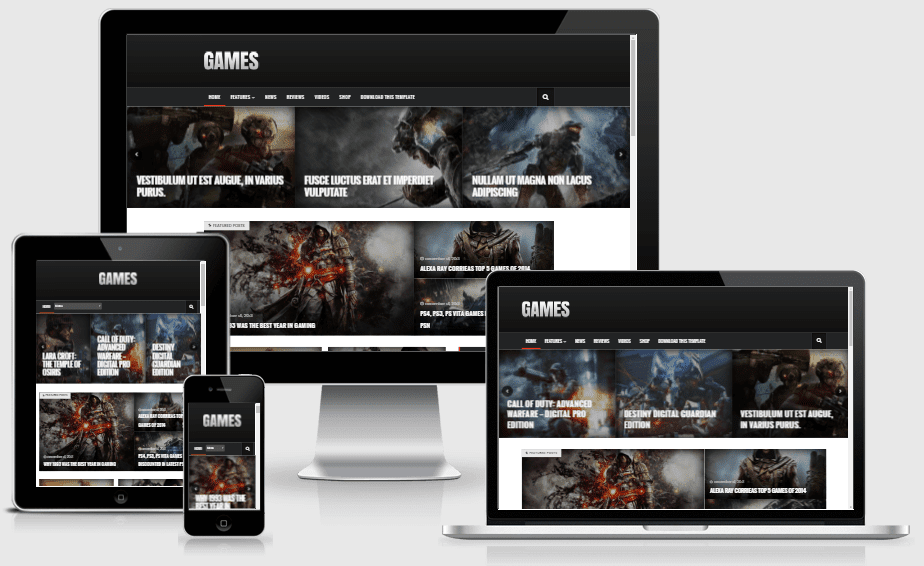 Sora Games Responsive Gaming Blogger Template