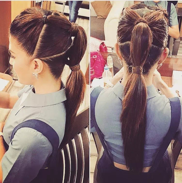 Jacqueline Fernandez hair side back view