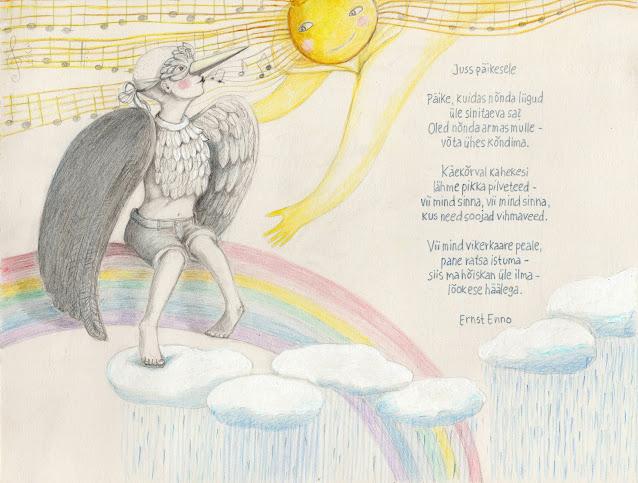 Aide Lei-Lepmets illustratsioon pliiats