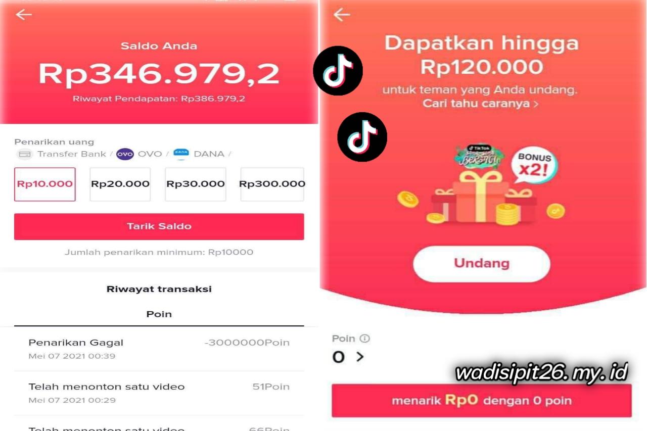 Tiktok lite aplikasi penghasil uang cara mendapatkan uang dari aplikasi tiktok lite