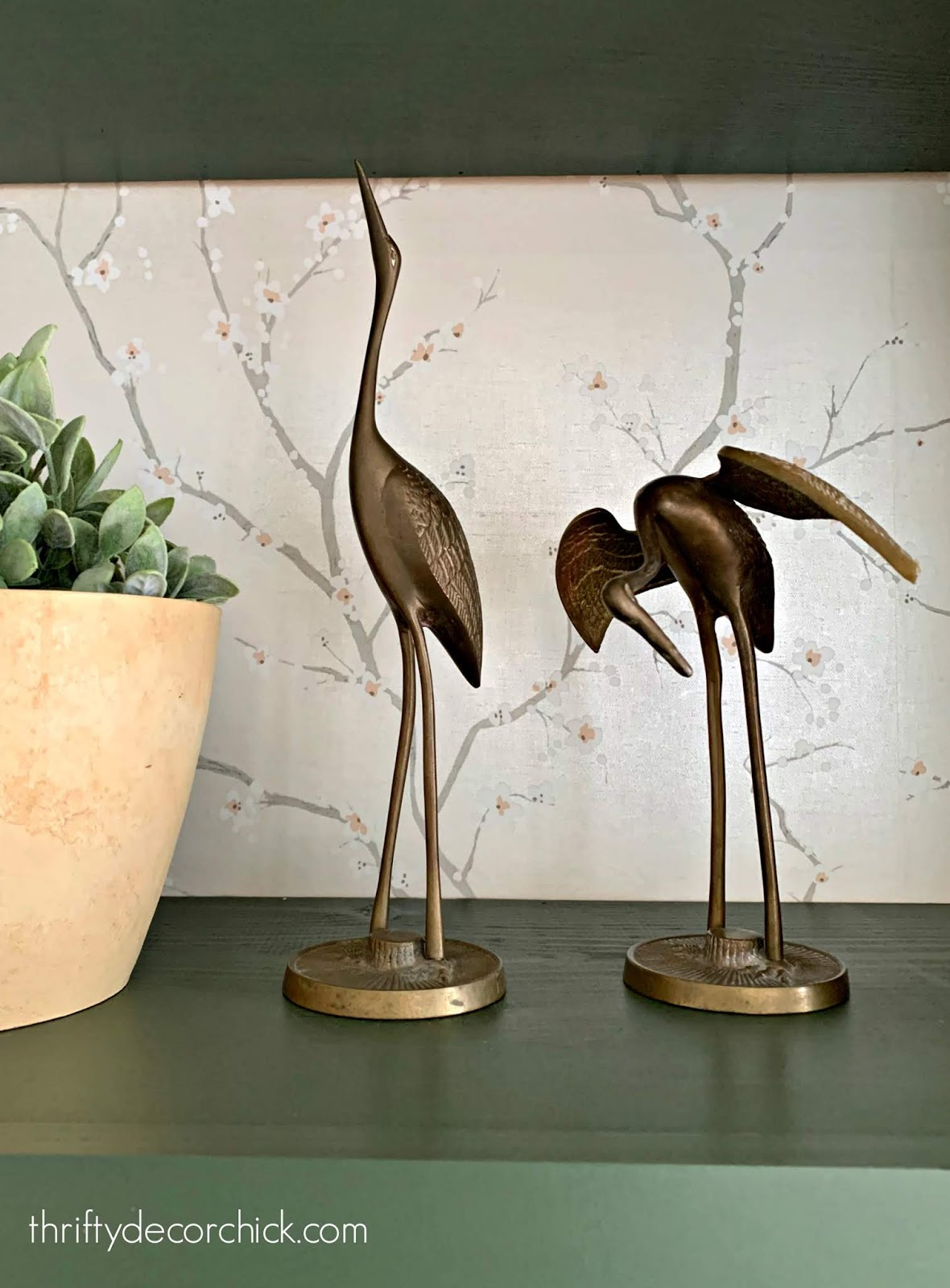 Decorating with brass vintage bird statues