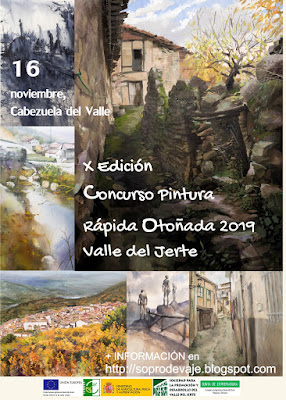 Concurso de Pintura Rápida - Otoñada 2019. 16 de noviembre en Cabezuela del Valle