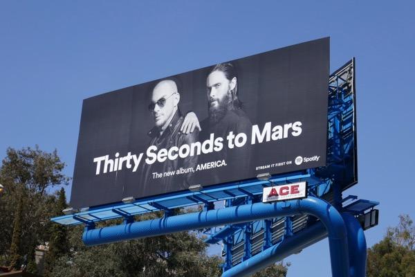 Thirty Seconds to Mars America Spotify billboard