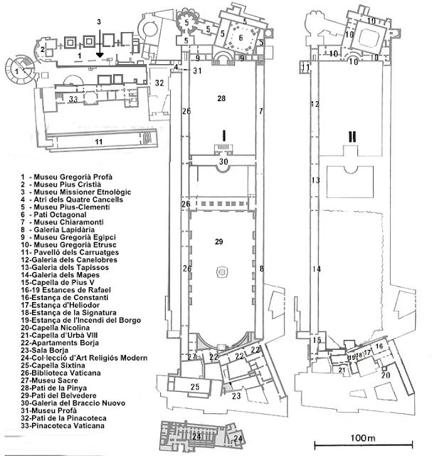 Planta dos Museus Vaticanos,
