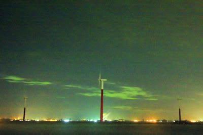 Poollicht of noorderlicht in Nederland.